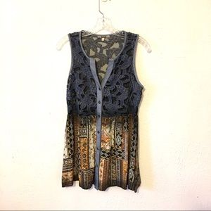 gimmicks by BKE Tops - GIMMICKS by BKE Denim Lace Western Tunic Size Sm